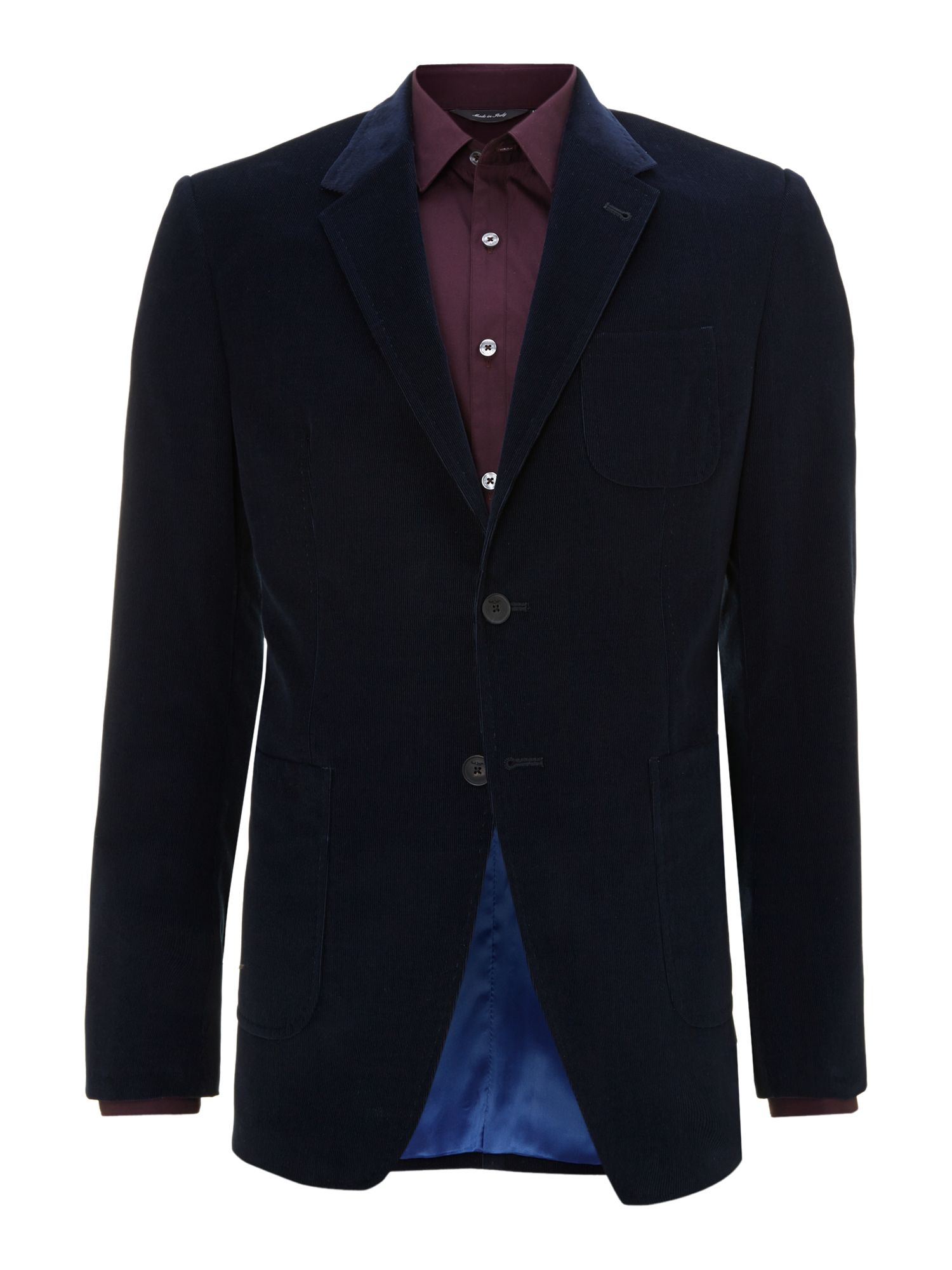 Westbourne fine cord patch regular fit jacket