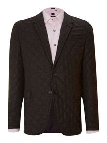 Slim fit quilted blazer