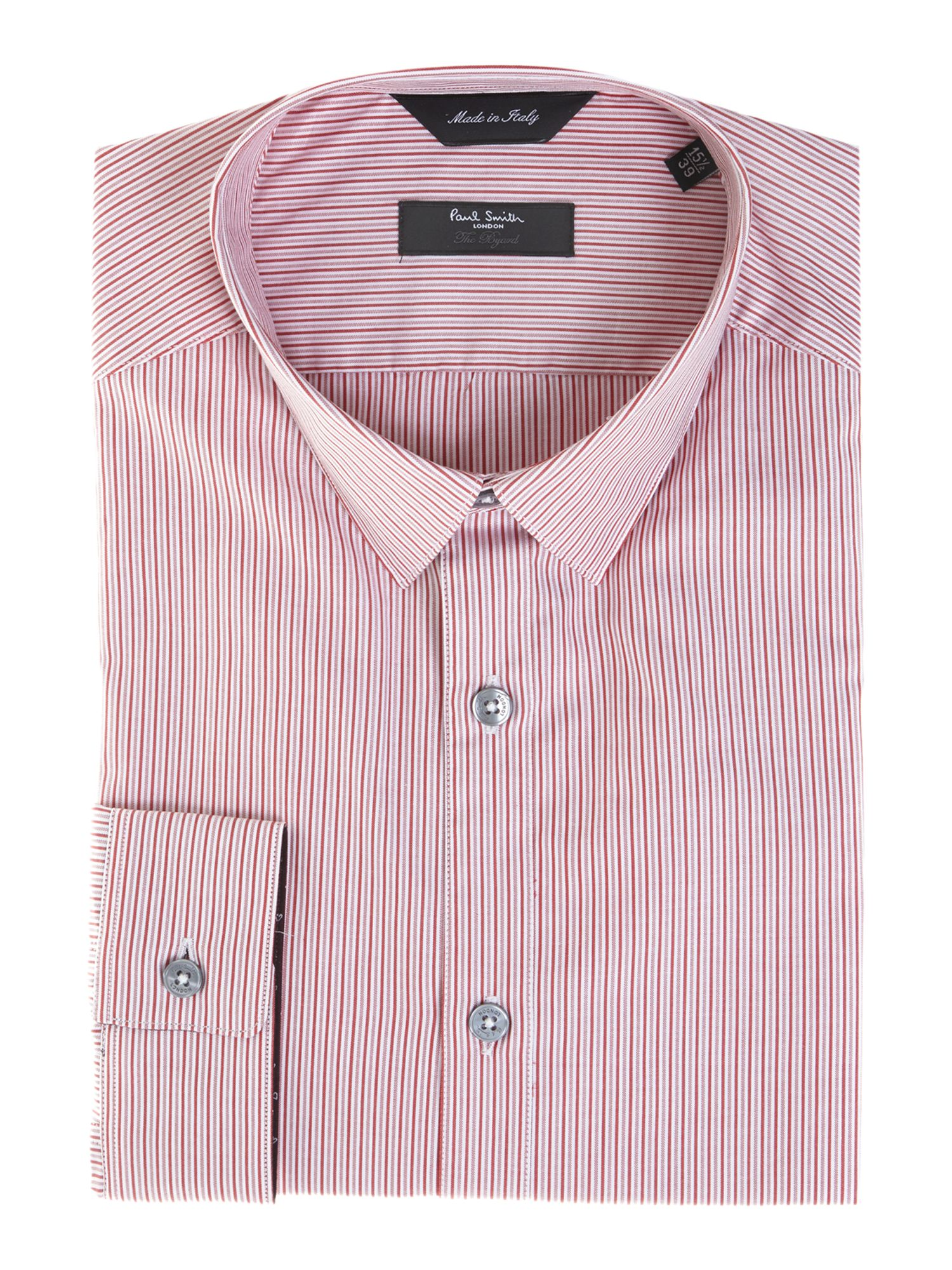 Byard fine multi stripe slim fit shirt