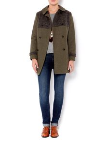 Wool mix fabric coat