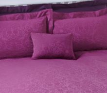 Princess Jaquard plum cushion