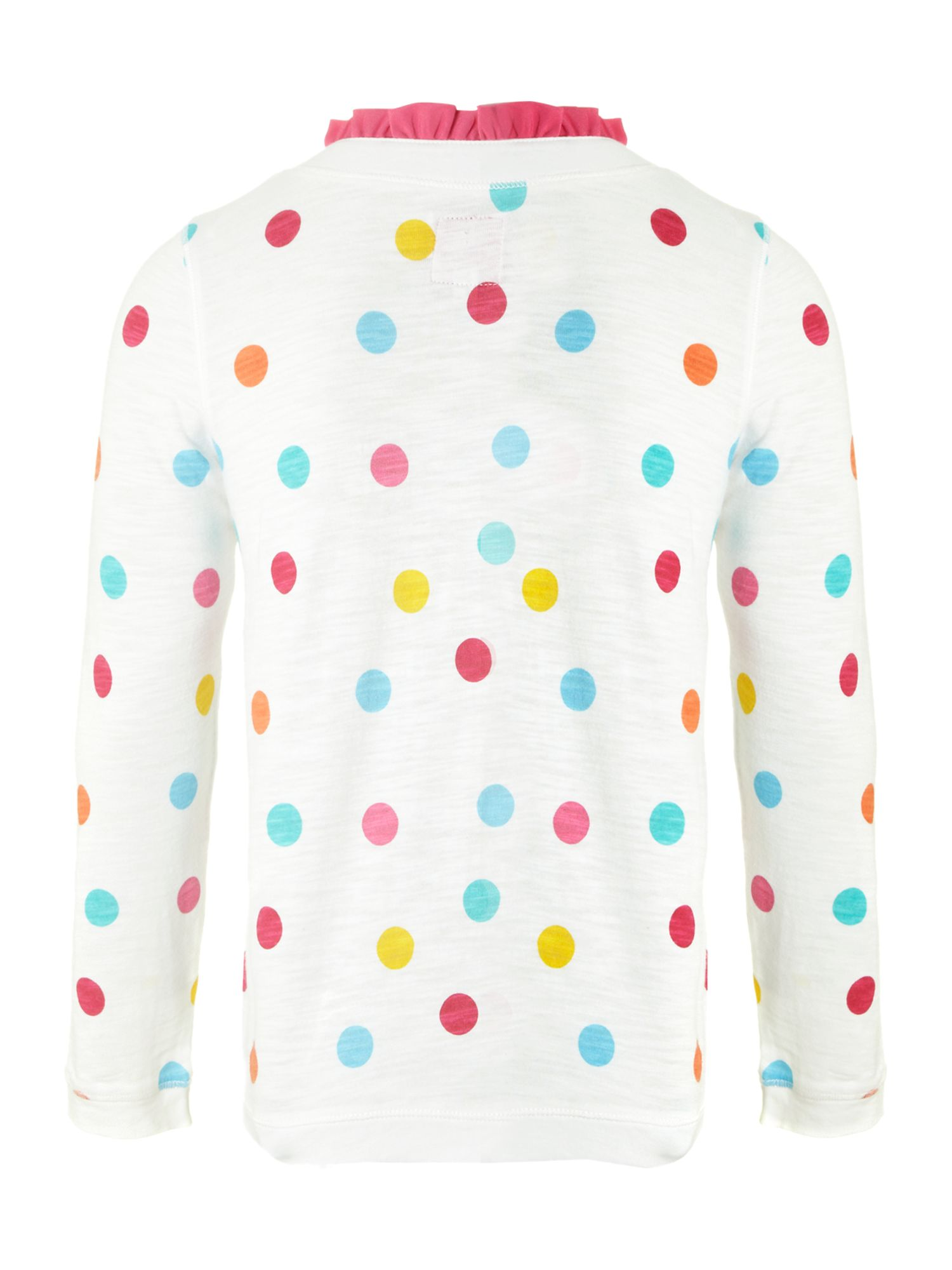 Girl`s spotty jersey cardigan