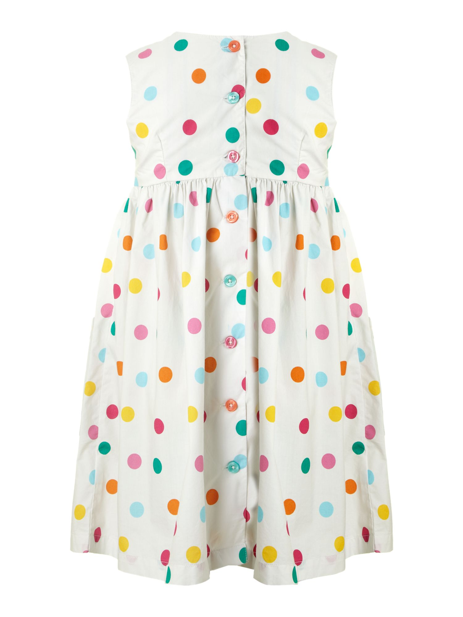 Girl`s spotty sun dress