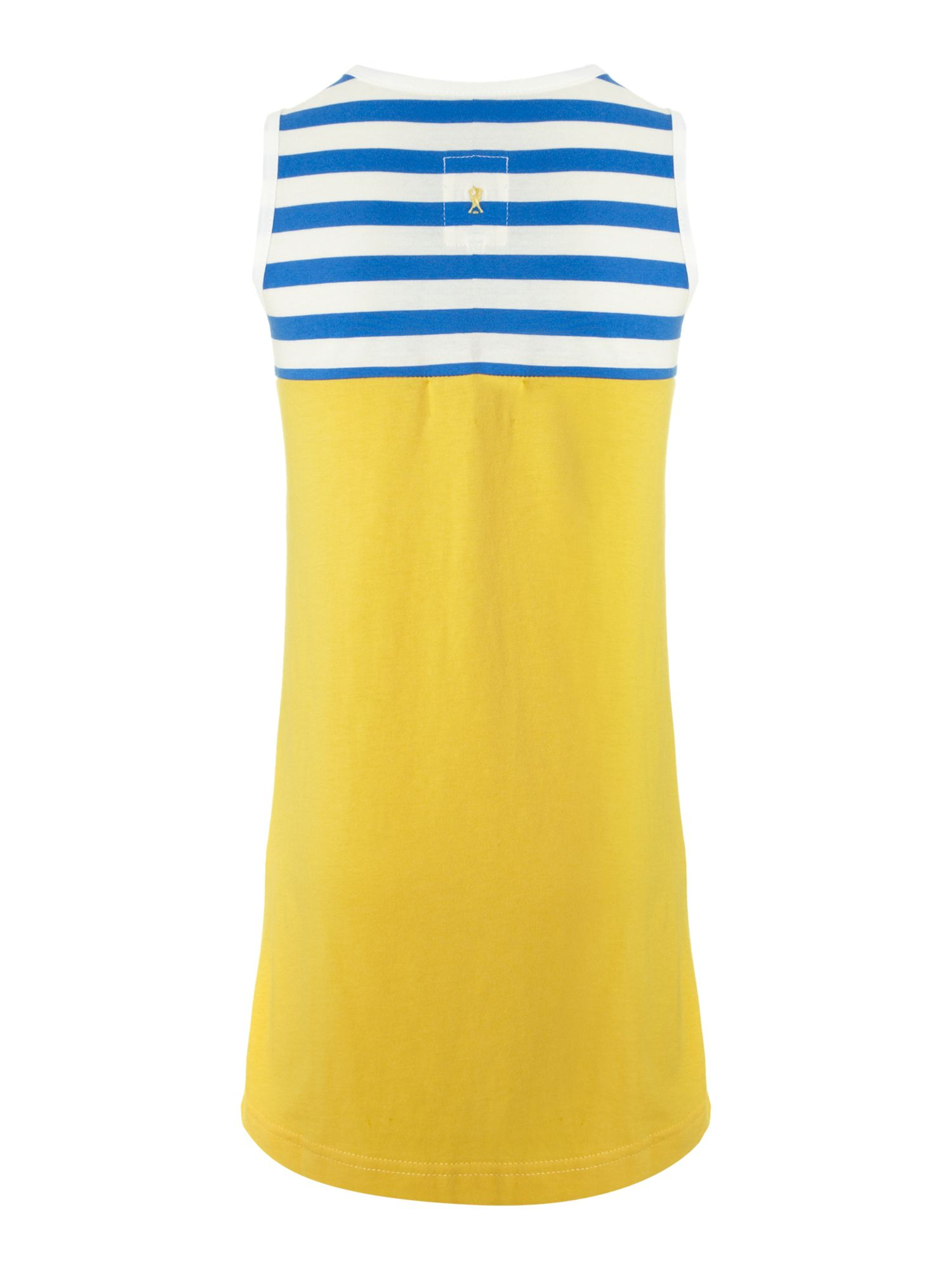 Girl`s sleeveless stripe beach dress