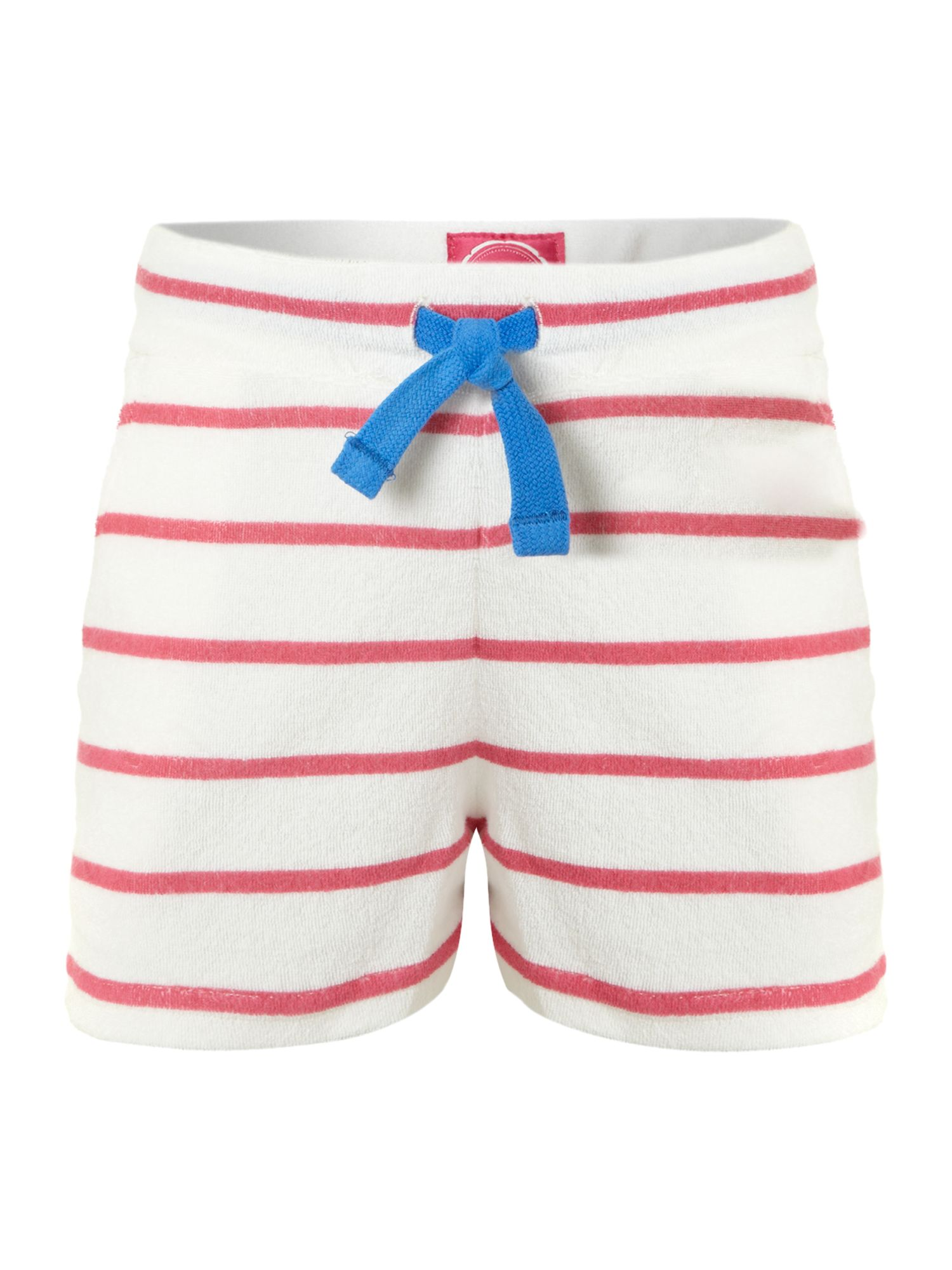 Girl`s stripe towelling shorts