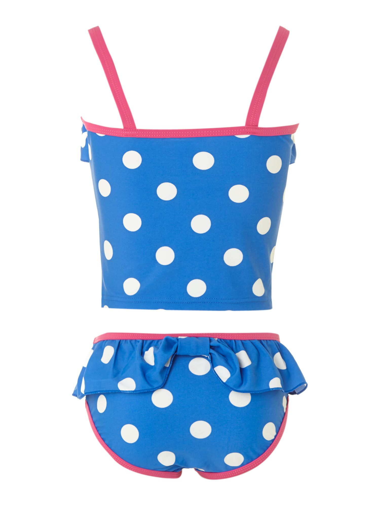 Girl`s spotty tankini