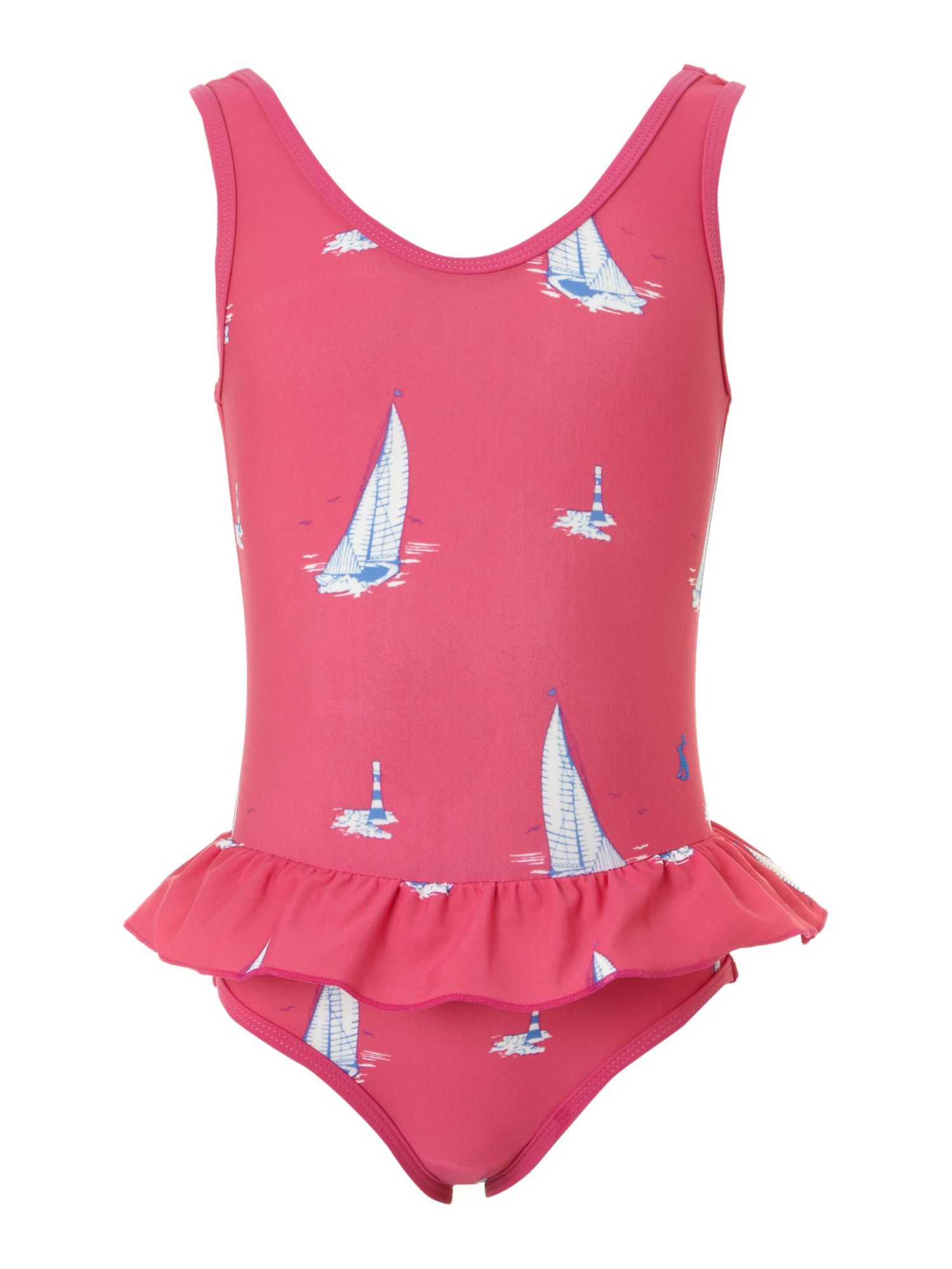 Girl`s boat print swimming costume