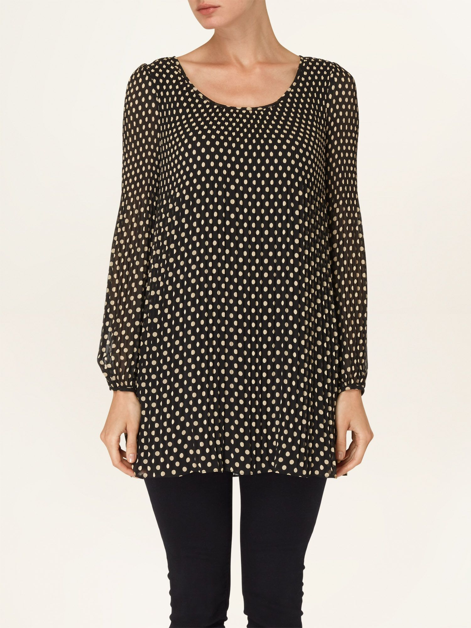 Ella spot pleated tunic