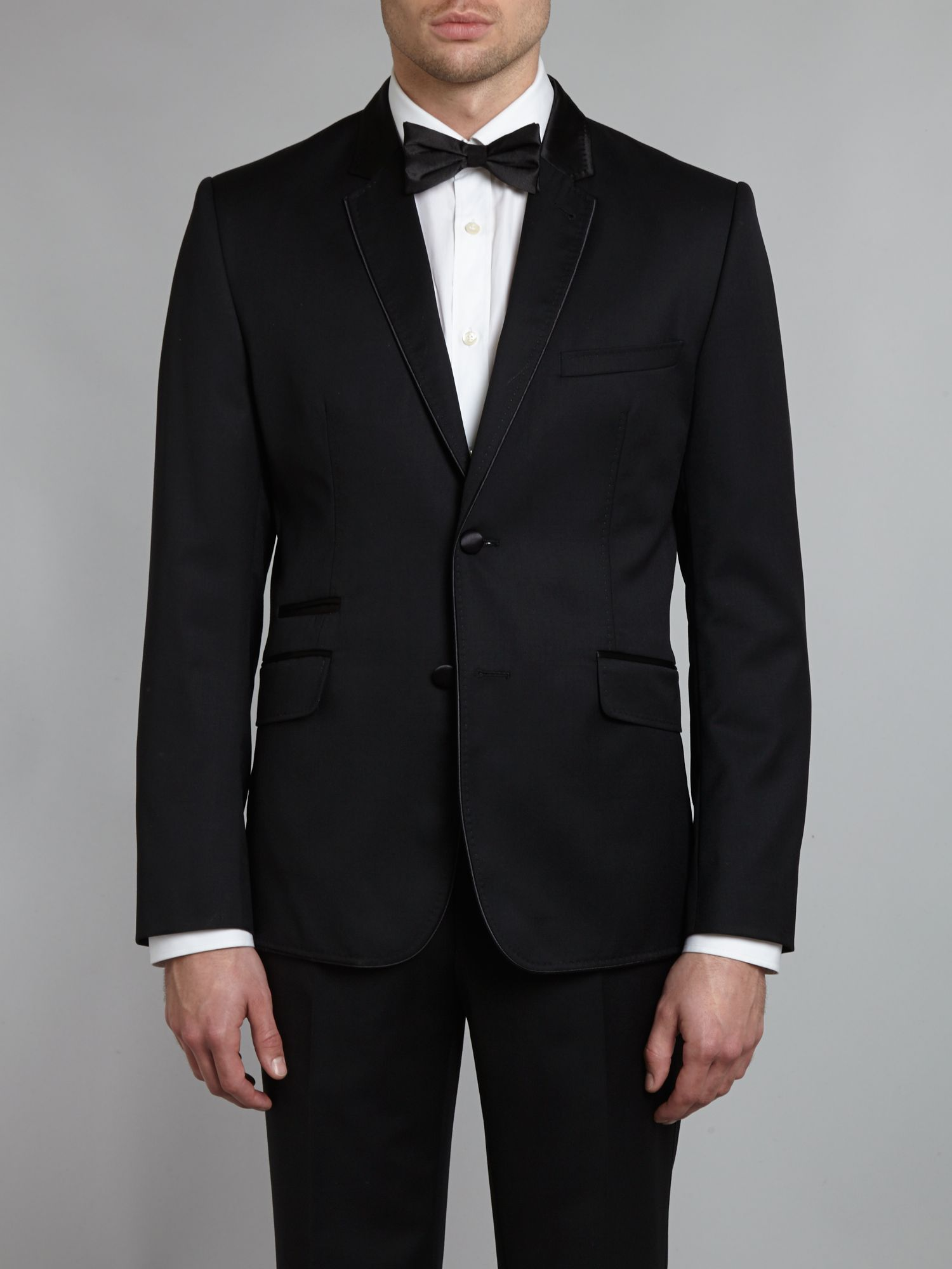 Owlz extra slim piped tuxedo jacket