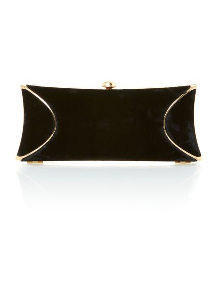 Untold Velvet hard box clutch bag