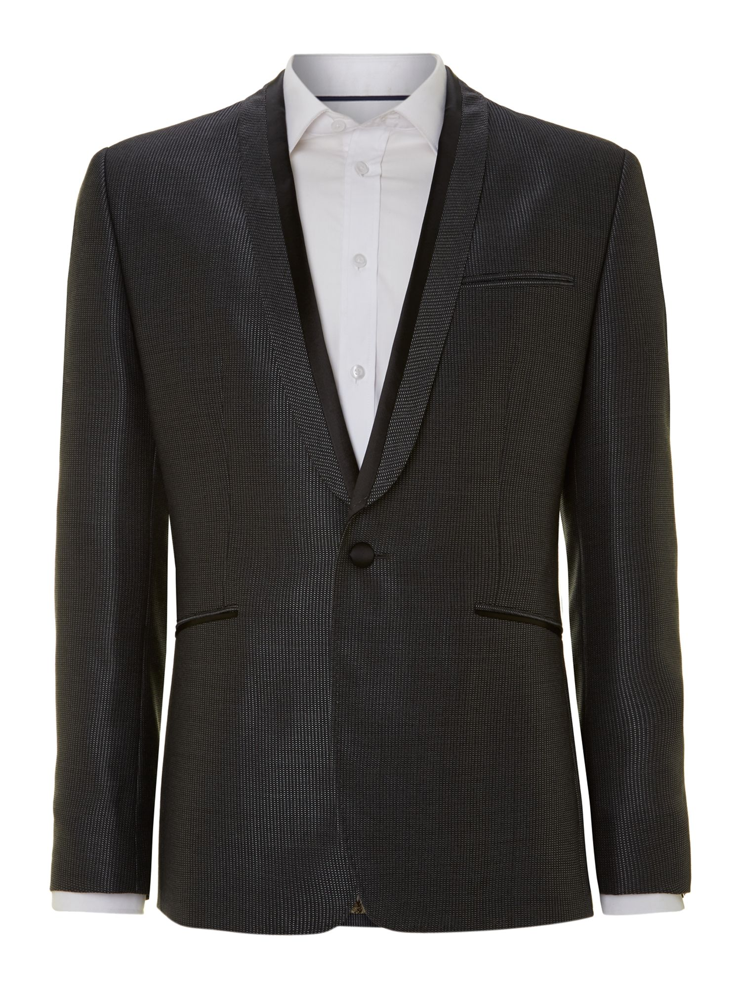 Flects pashion regular fit textured tux blazer