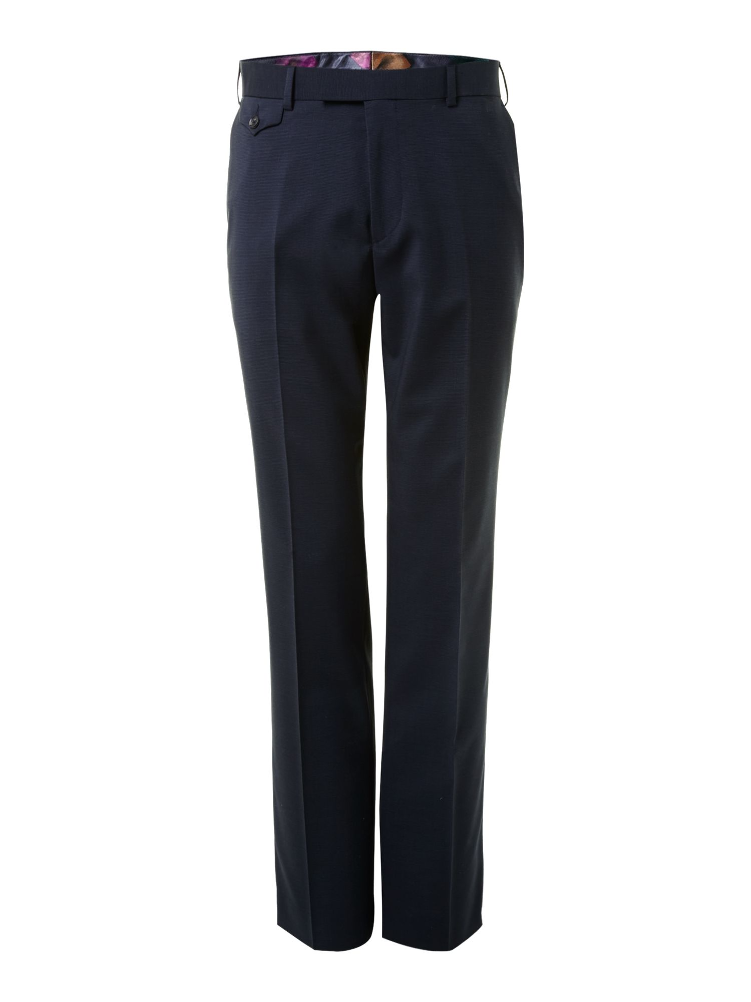 Kingdo regular fit micro texture trousers