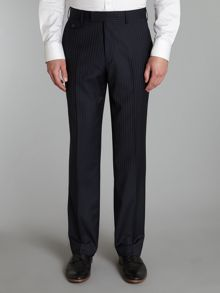 Anglo sterling regular fit pinstripe trousers