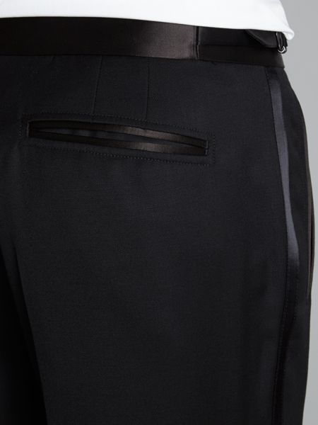 Ted Baker Owlz extra slim piped tuxedo trousers