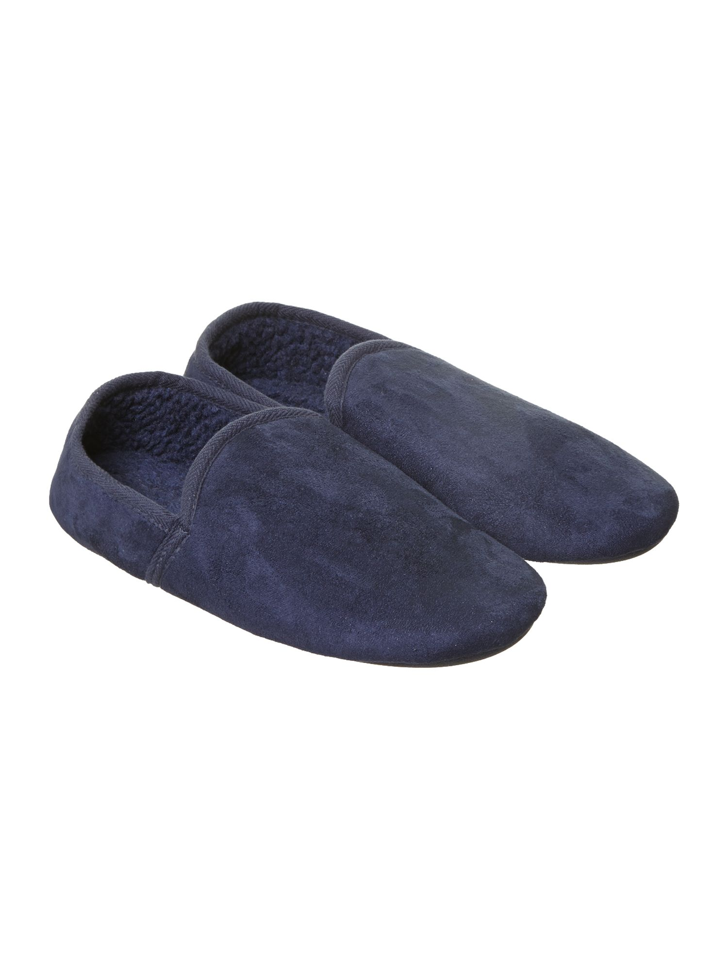 Microsuede full back slippers
