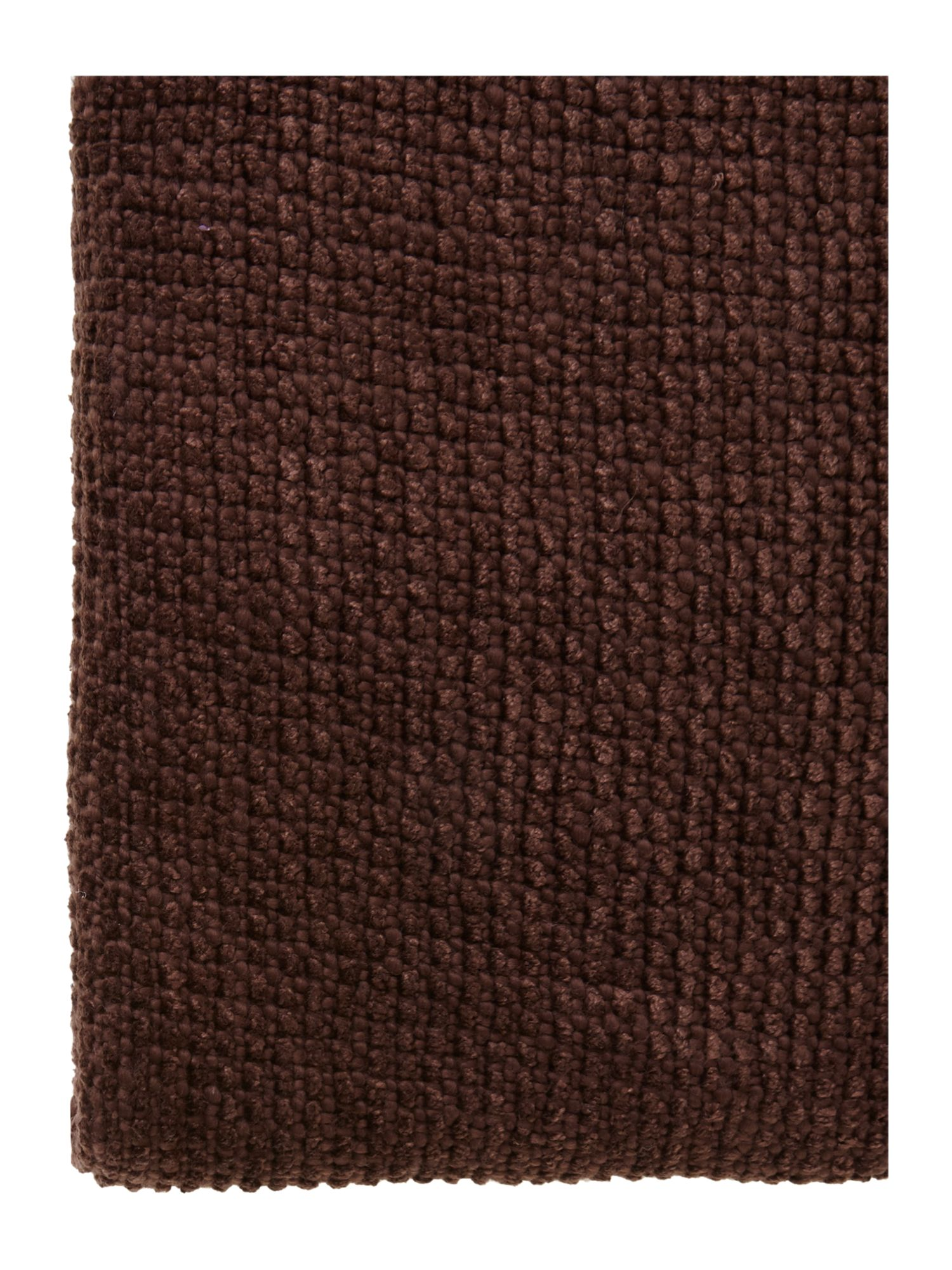 Brown chenille throw