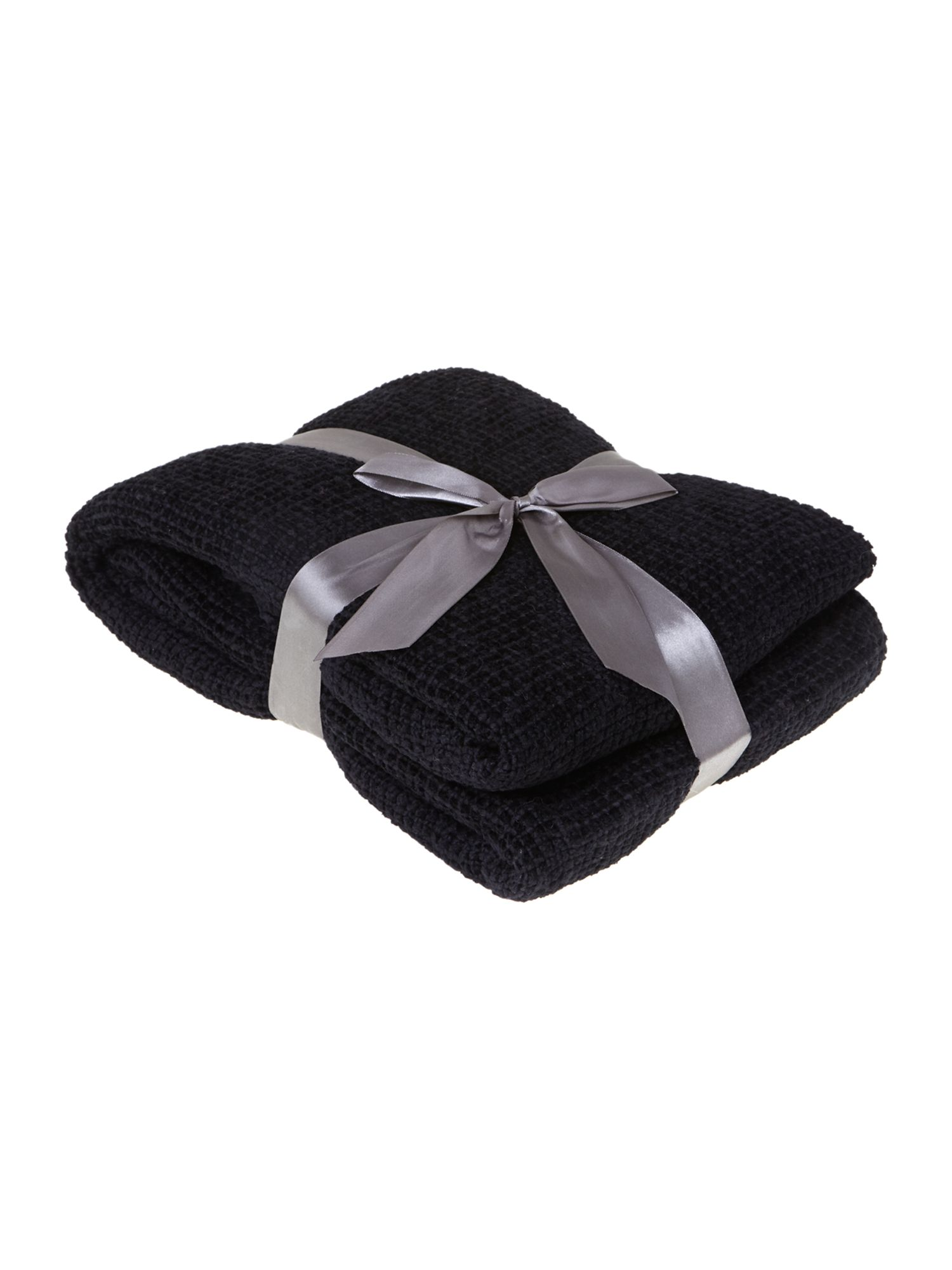 Classic chenille throw, black