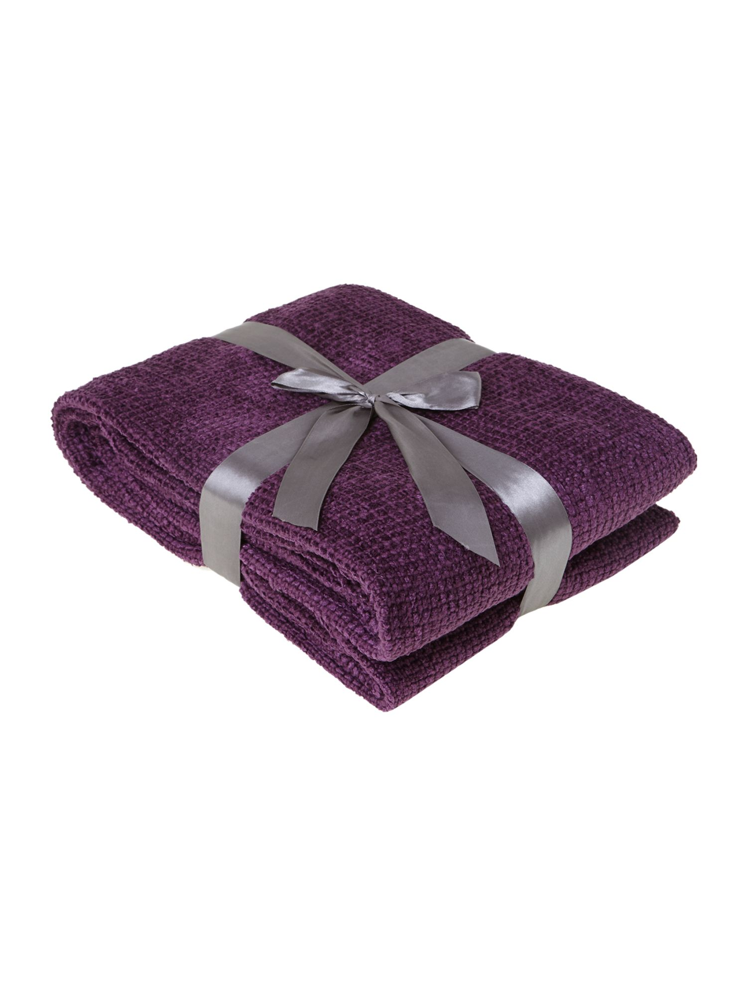 Purple chenille throw