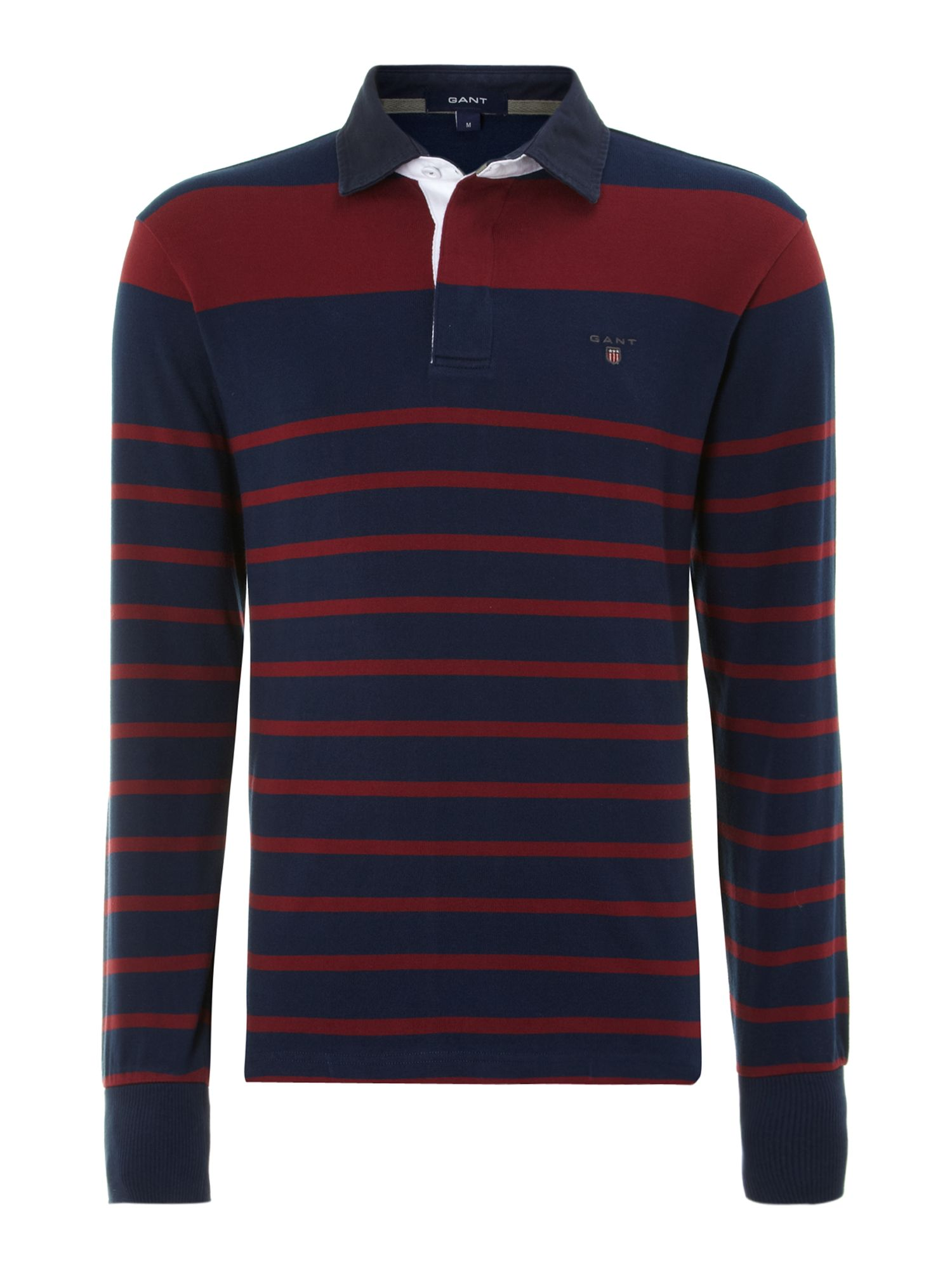 Long sleeve striped rugby top