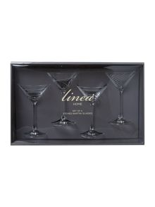 Martini glasses, set of 4