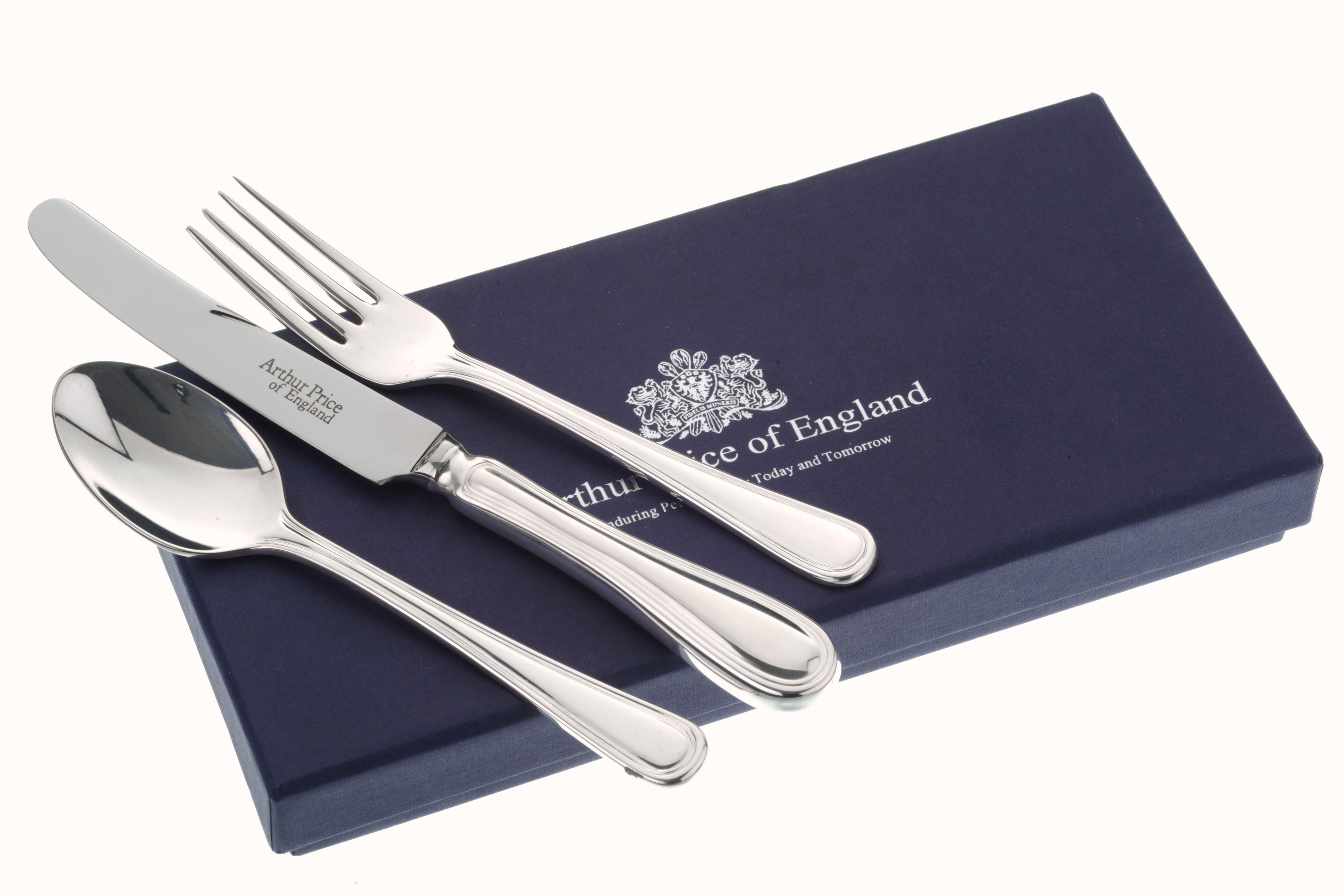 Silver plated childs britannia cutlery set