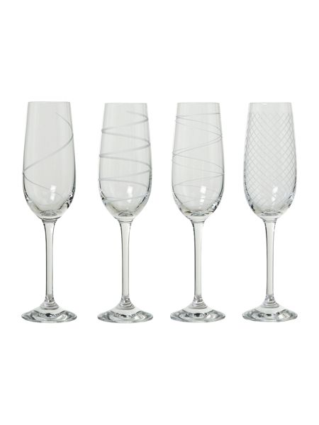 Linea Champagne flutes, set of 4