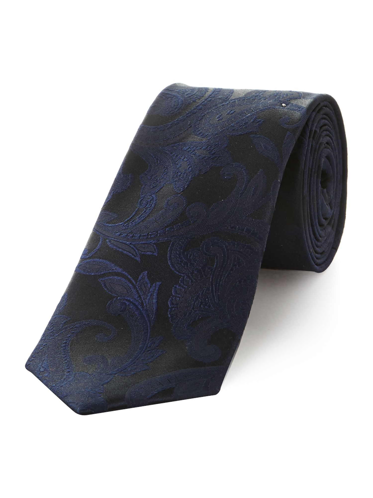 Self coloured paisley tie