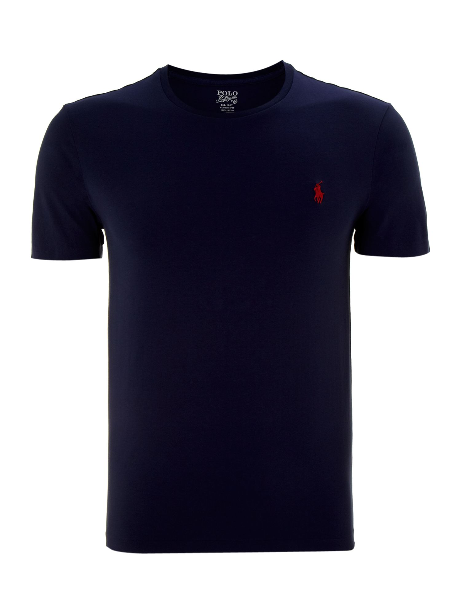 Jersey solid custom fit crew neck T-shirt