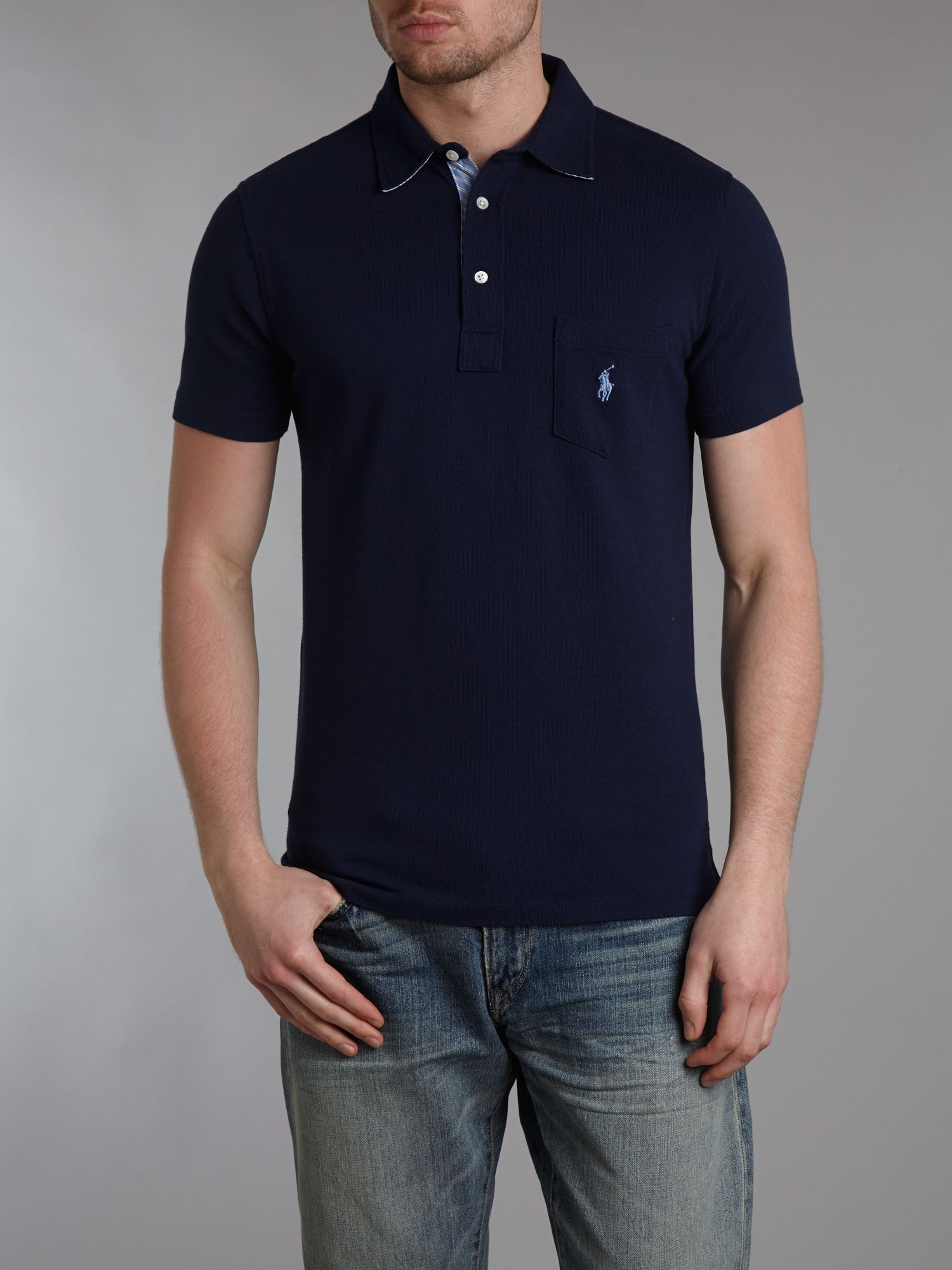 Custom fit woven polo