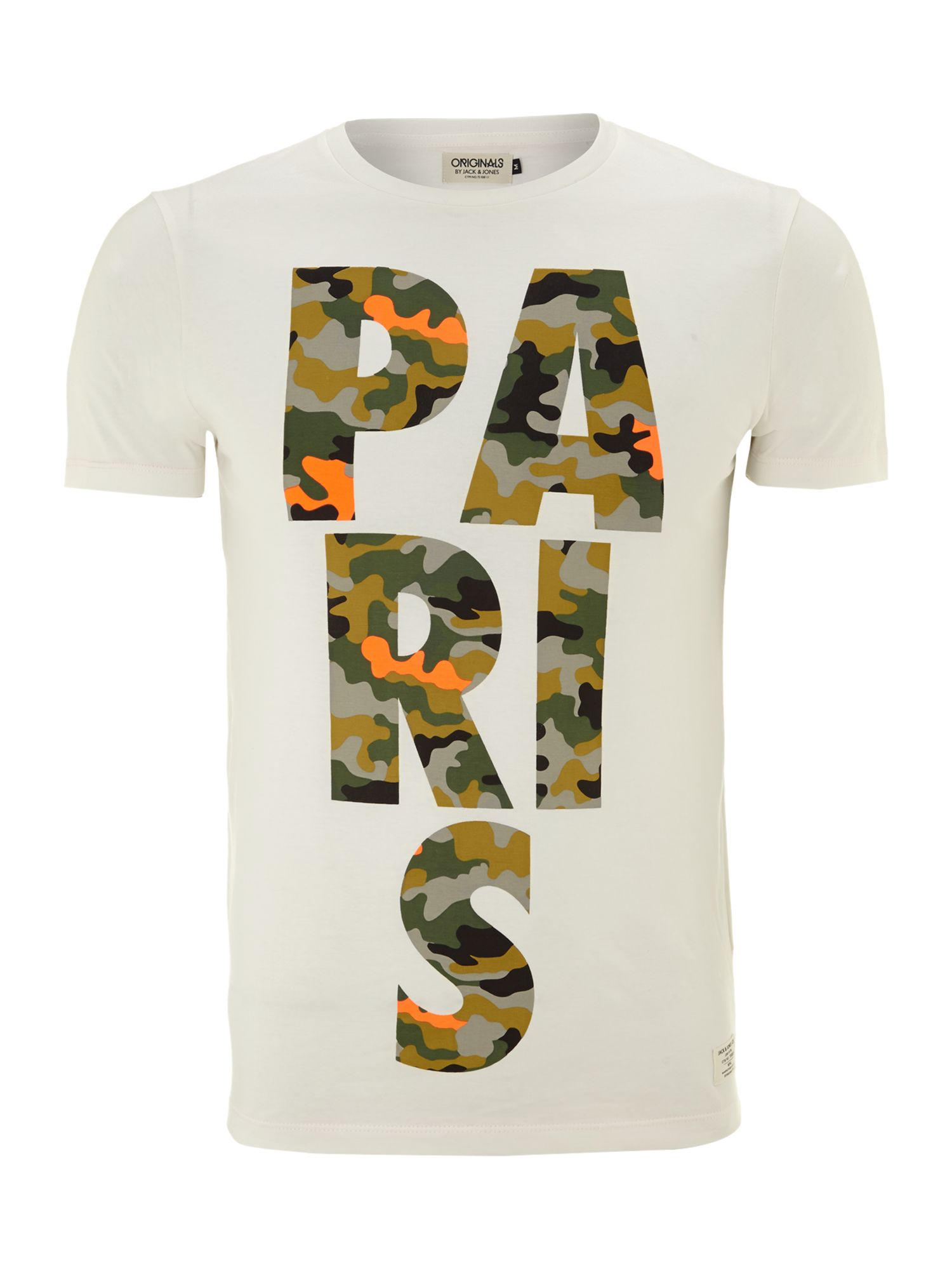 Camoflage Paris graphic T-shirt