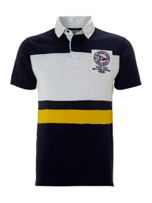 Striped flag custom fit rugby top