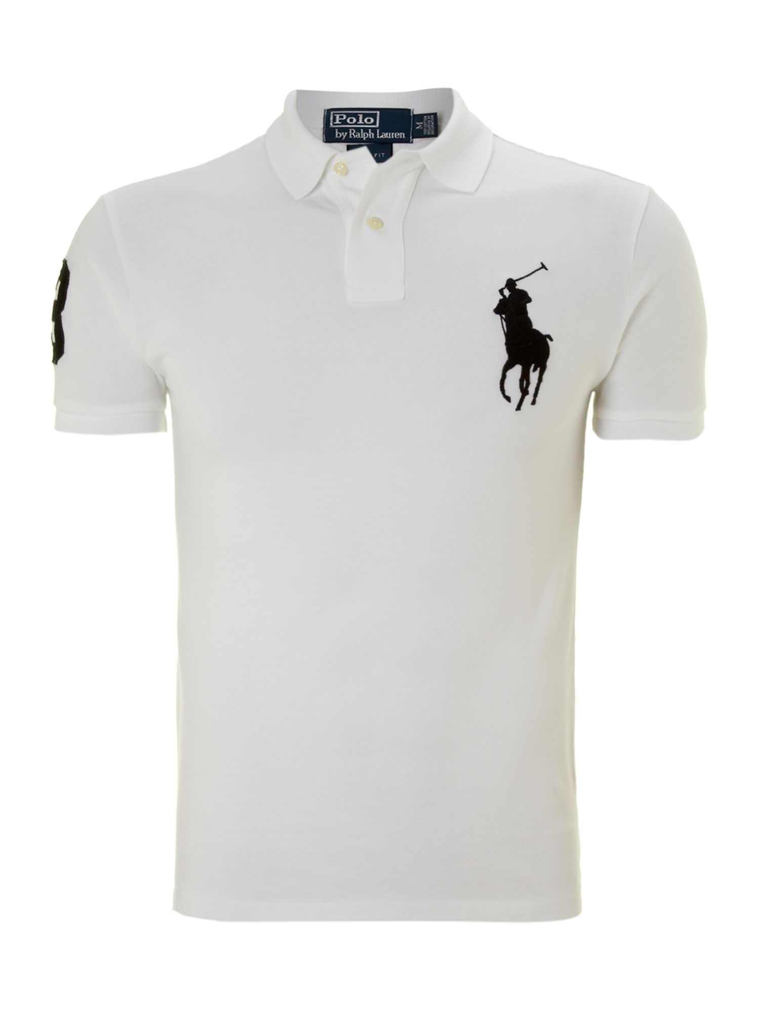 Slim fit big pony mesh polo
