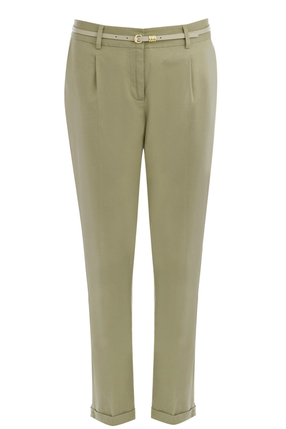 Stab stitch washed peg trouser