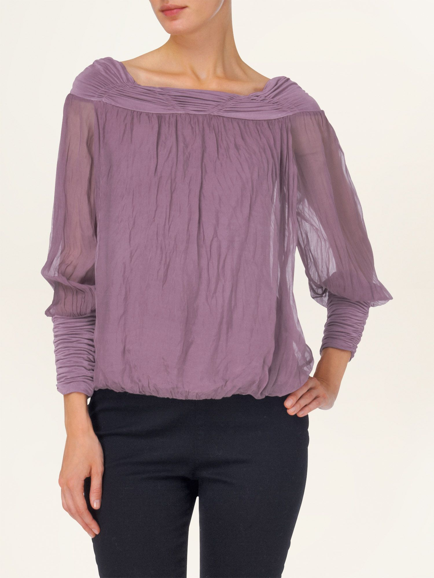 Gypsy silk blouse