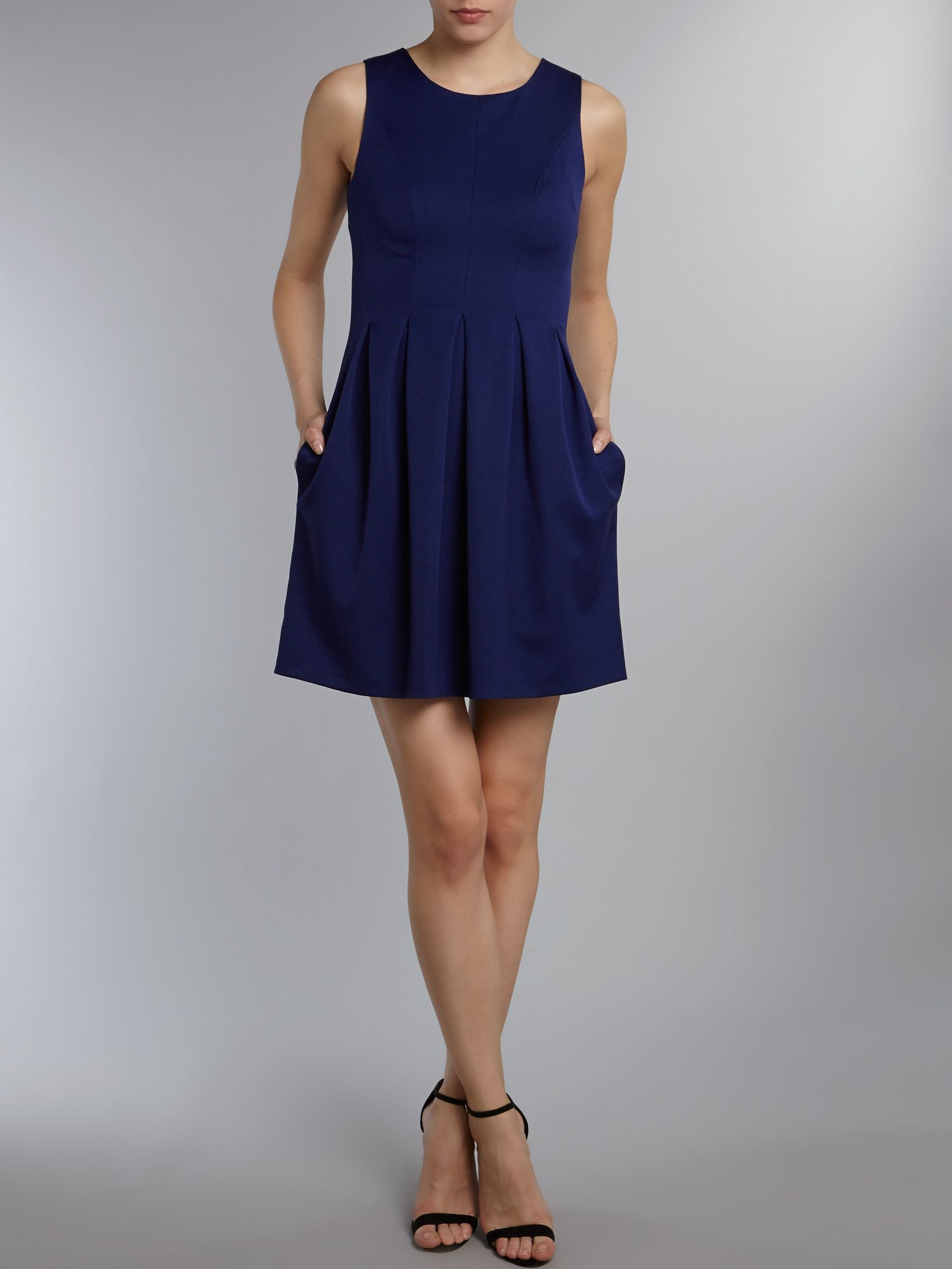 Panel sleeveless dress