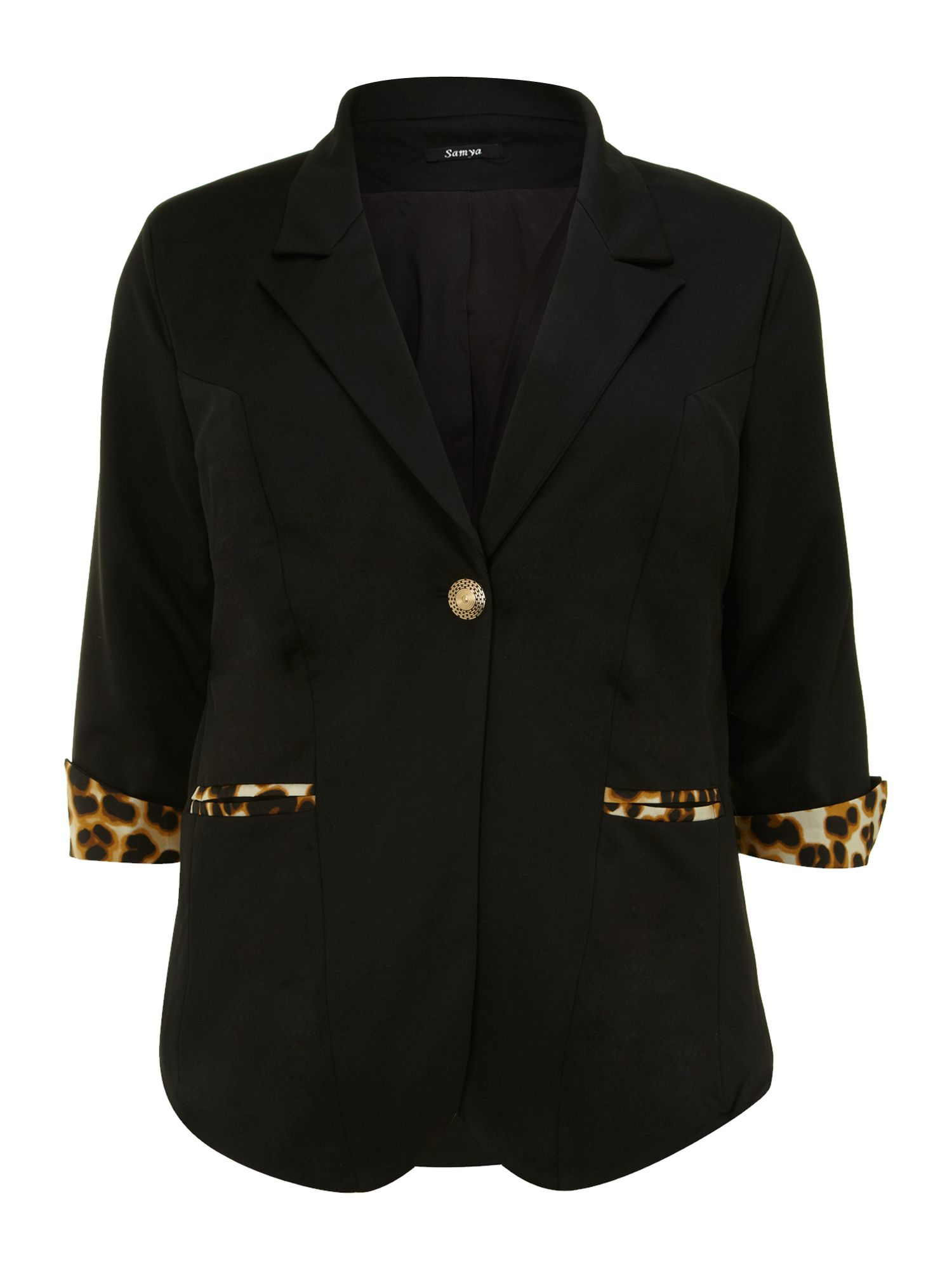 Jersey jacket with wide lapels