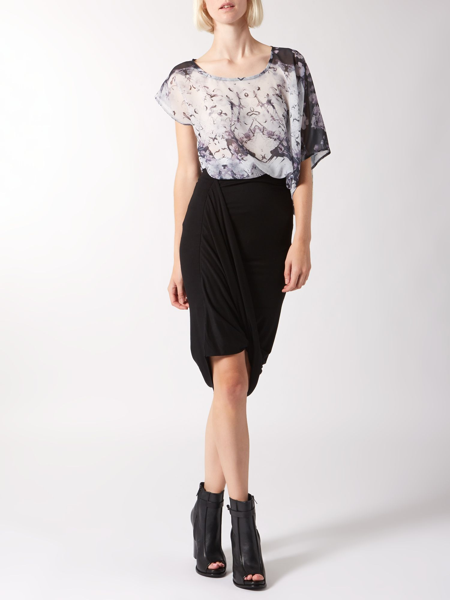 Hitch & gather jersey skirt