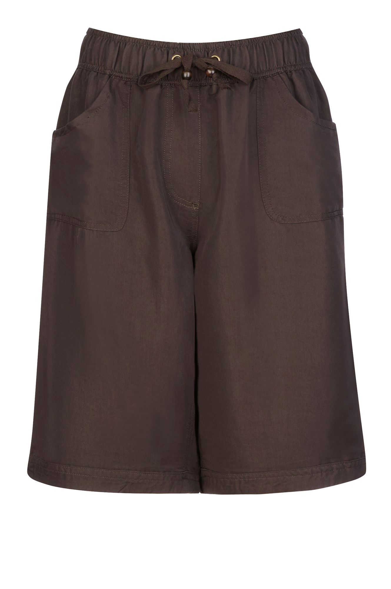 Elasticated waist soft twill short