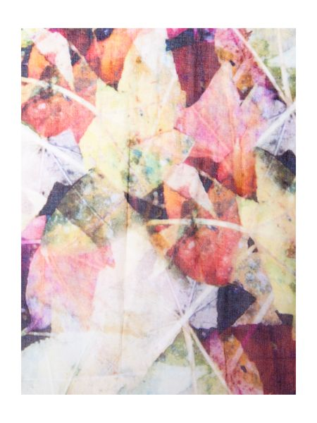Ted Baker Autumn leaves print long scarf