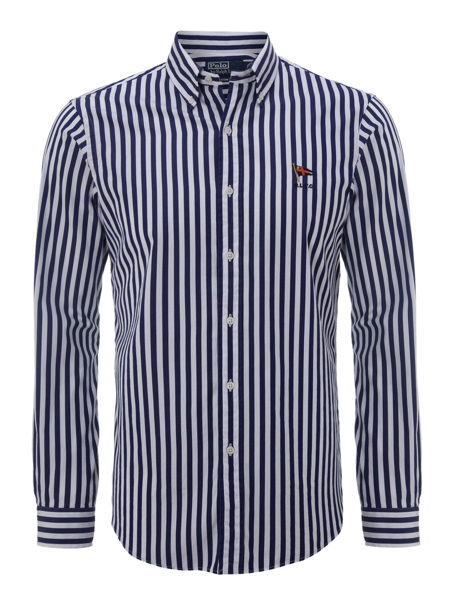 Classic long sleeved striped shirt