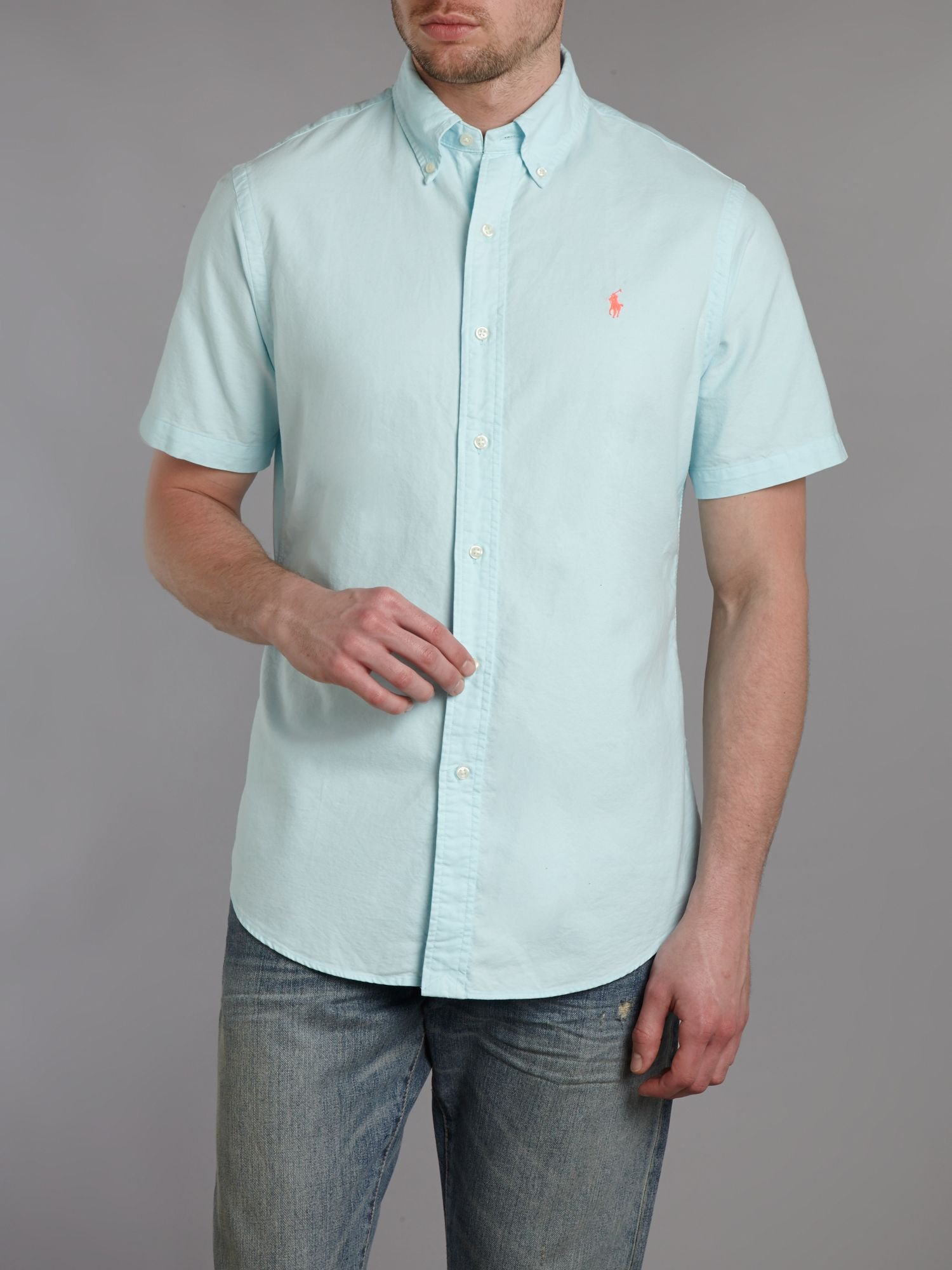Short sleeve custom fit shirt
