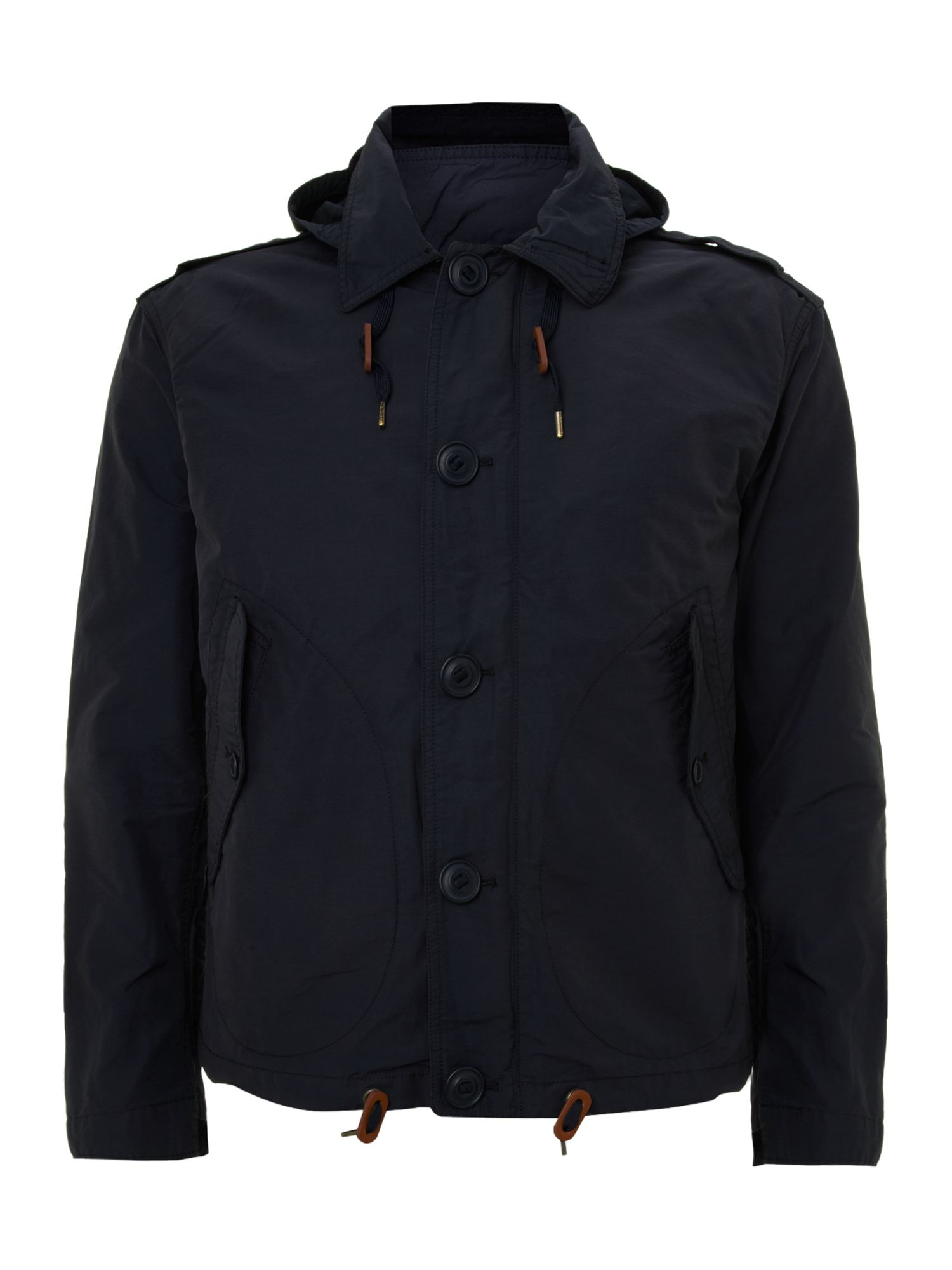 Continental hooded windbreaker coat
