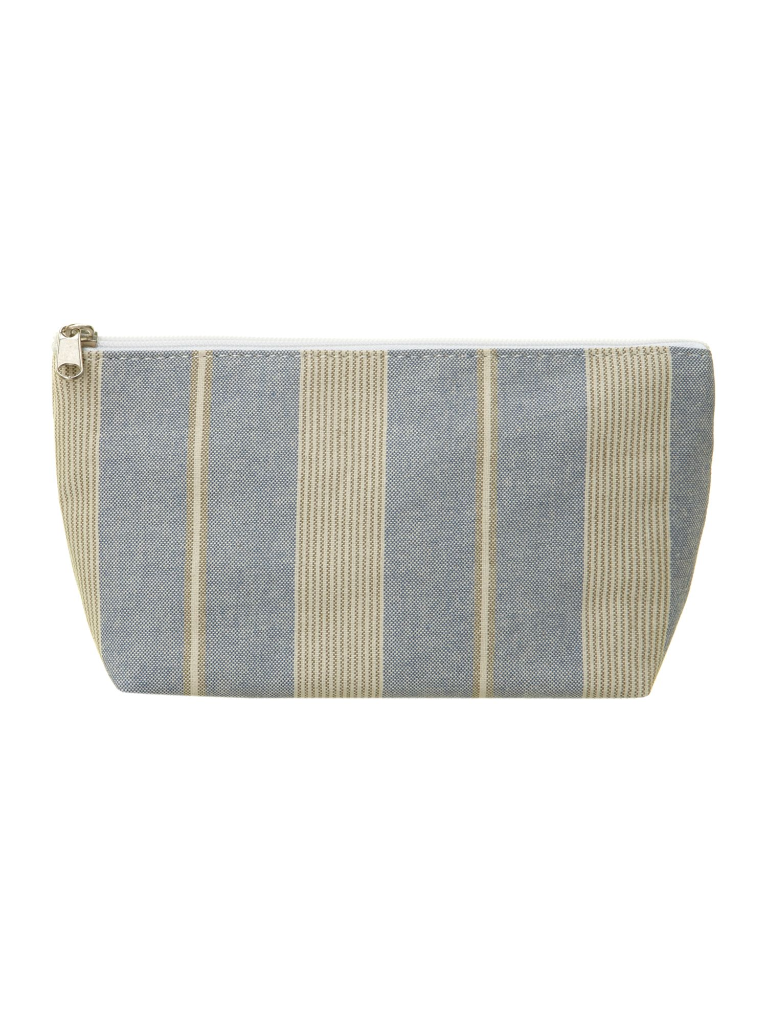Nautical stripe make-up bag