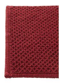 Cotton bobble reversible bathmat in claret