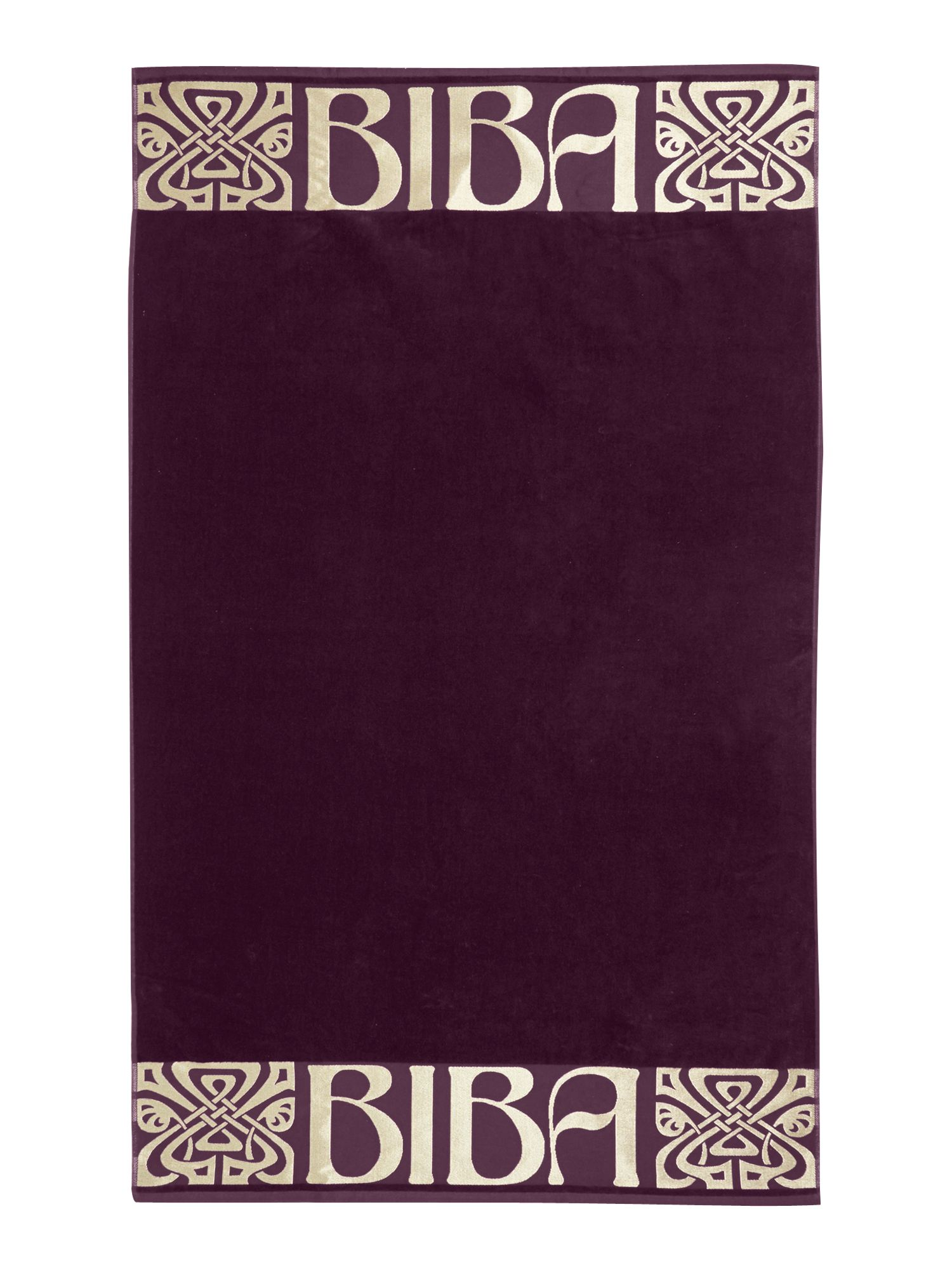 Logo beach towel in plum