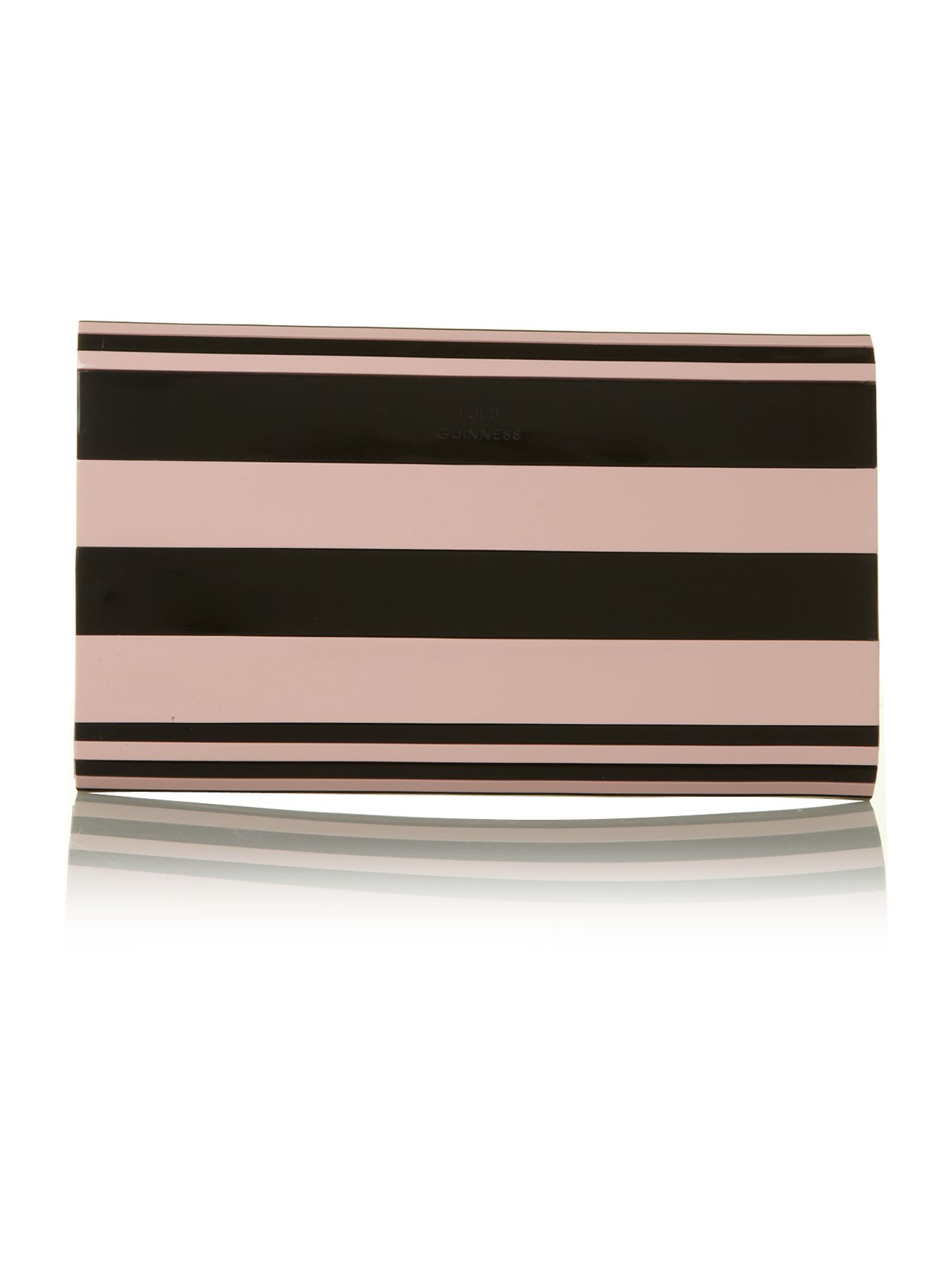 Natalia multi stripe clutch bag