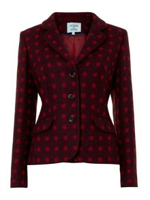 British spot wool blazer