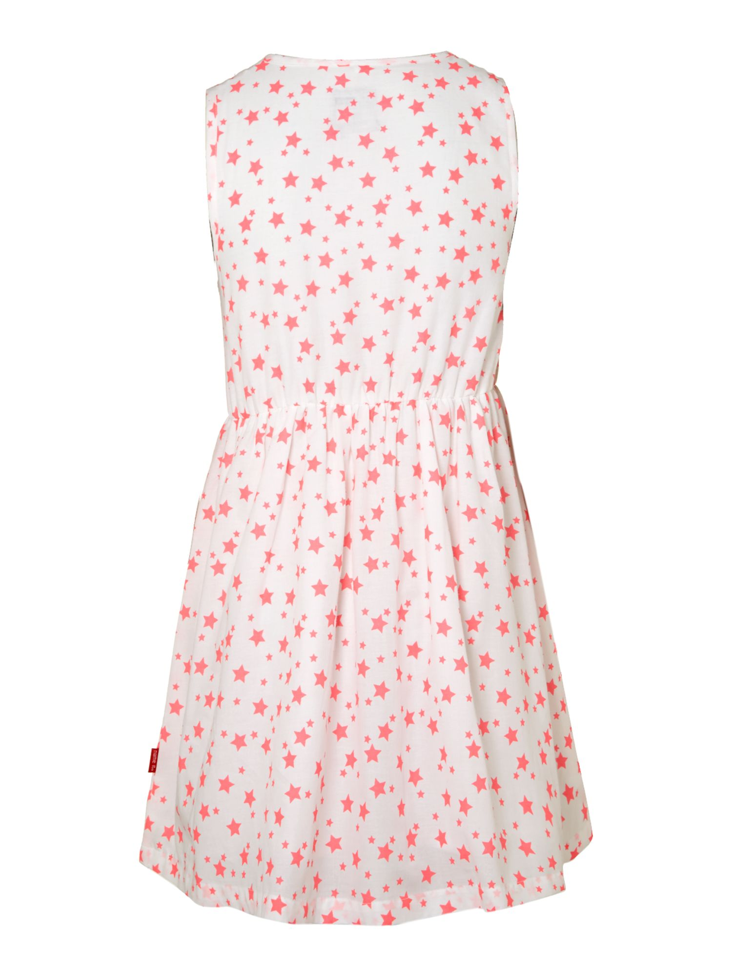 Girl`s neon star print sleeveless dress