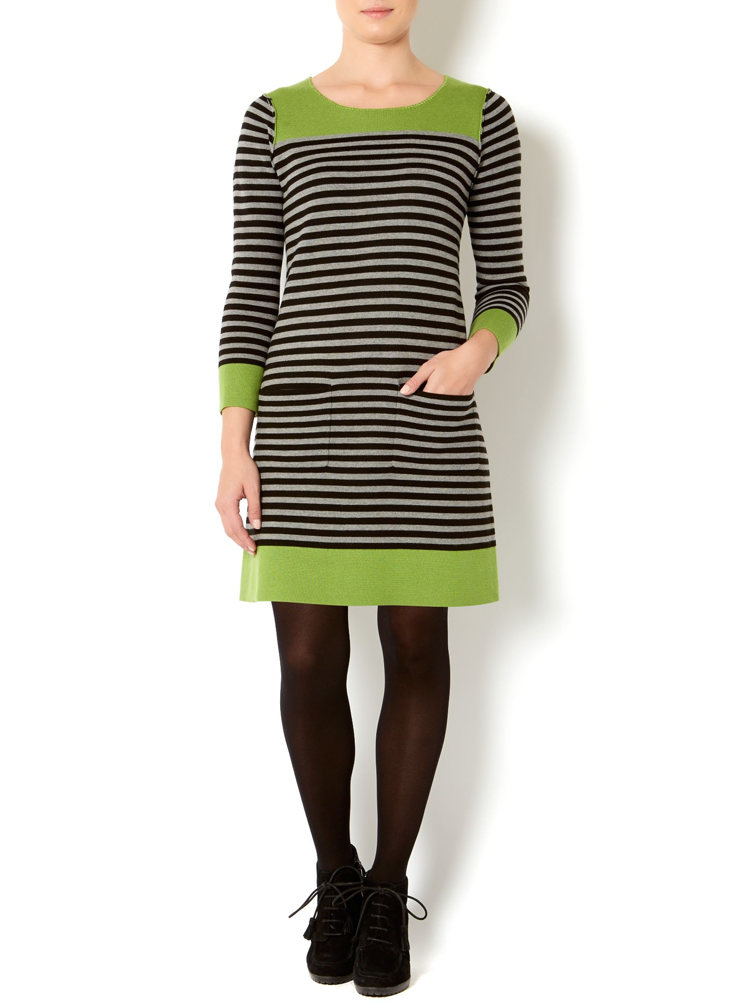 Knitted stripe dress