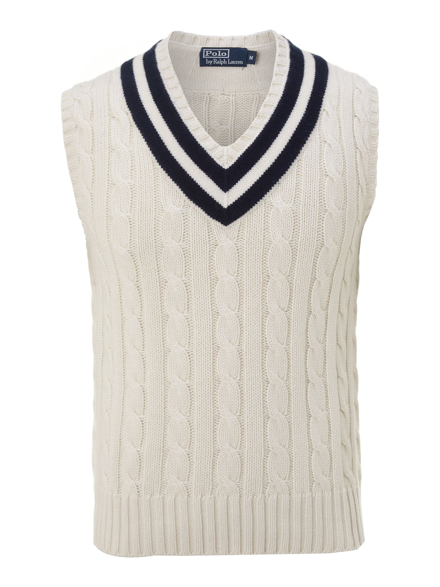 Wimbledon cable knitted tennis vest